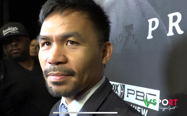 Interview With Manny Pacquiao About The Pacquiao-Thurman Fight | USA